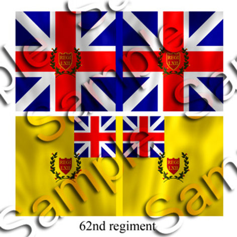 62nd Regiment- King's and Battalion colours