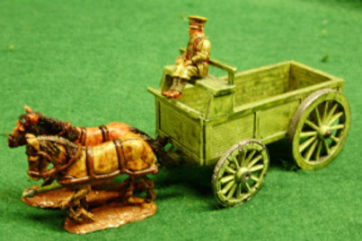 GS Type Wagon with 2 Horses & Driver  SD Cap