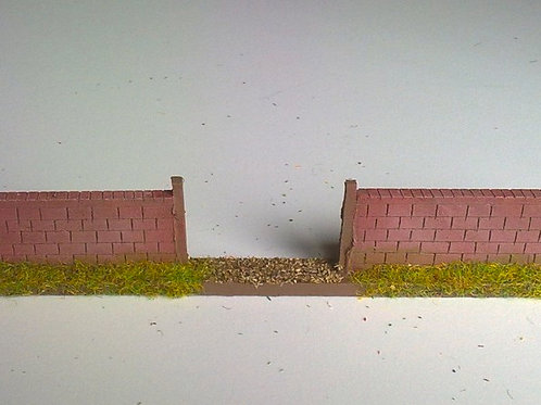 28mm Brick Wall Gate Section