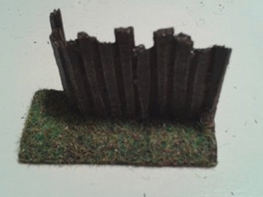 28mm Wooden Palisade Left Hand Corner