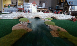 Scots Guards & Dragoons crossing the bridge
