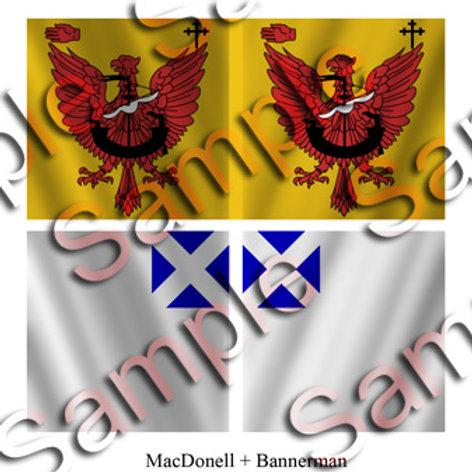 MacDonell – 1 flag; Bannerman – 1 flag