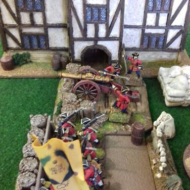 Saxon front line