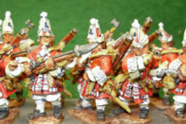 Grenadiers in Mitre Caps, Assaulting