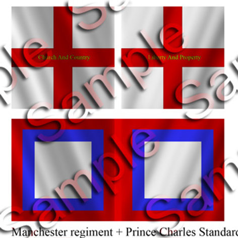 Manchester Regiment + Prince Charles Standard