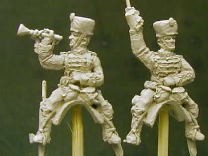 Hussar Command, Officer and Trumpeter