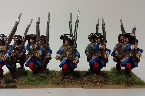 Line Musketeer, cartridge box on shoulder belt