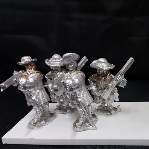 Musketeers, Flintlock, Soft Hat, Firing