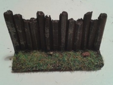28mm Wooden Palisade Straight Section