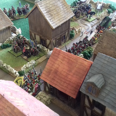 Saxon and Danish front line