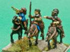Mounted Heidman and followers
