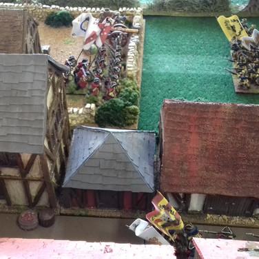 Swedish Right Flank attacking the forward Danish artillery position