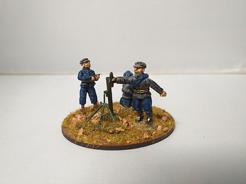 81mm Mortar and 3 crew