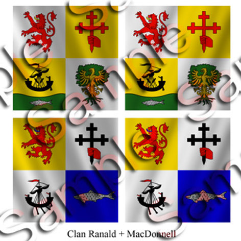 Clan Ranald – 1 flag; MacDonnell – 1 flag