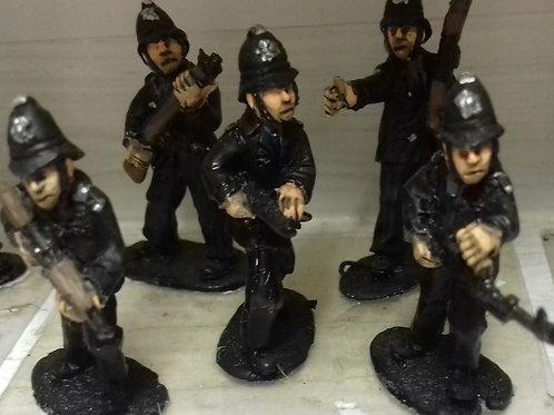 Police with Custodian Type Helmet (various weapons)