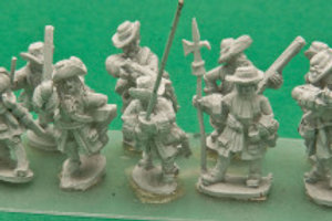 Dismounted Dragoons with Command, in Fur Hat