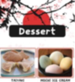 Dessert Menu at I Love Sushi