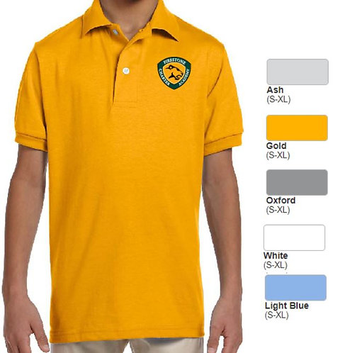 Embroidered Youth SpotShield Blend Jersey Polo - AB437Y