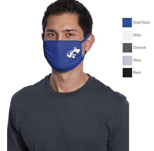 3 Ply Adult Cotton Antimicrobial Face Mask, Earloops -SMPAMASK05