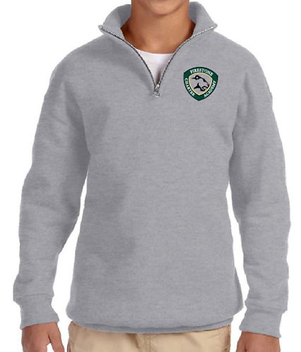 Embroidered Youth NuBlend Quarter Zip Cadet Collar Fleece - AB995Y