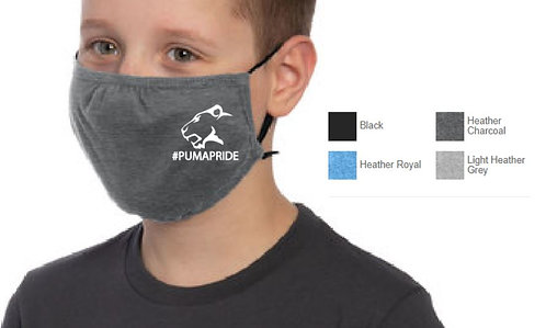 3 Ply Youth Cotton or Cotton Blend Face Mask -YDTMSK02