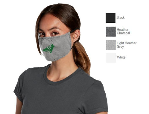 3 Ply Adult Cotton or Cotton/Poly Blend Face Mask - Head Straps - SMDTMS