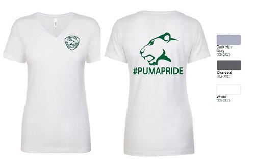 #Puma Pride Ladies Blend V-neck Tee - ABN1540