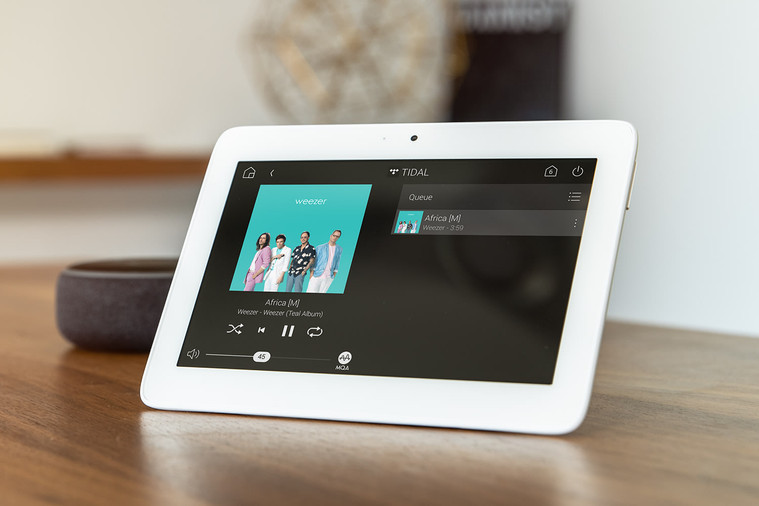 Wifi connected touchscreens in wall or tabletop putting you in full control of your music & films, where you want instantly.