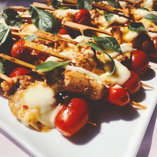 Capri Chicken Kebabs