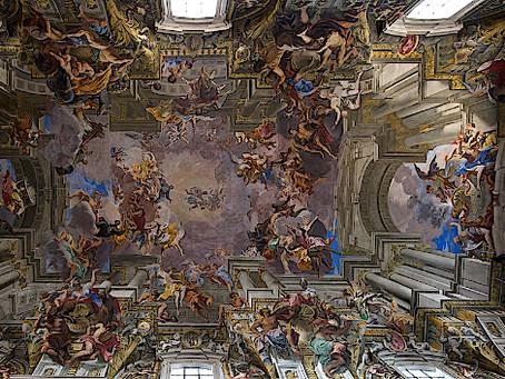 50. The wonderful fresco of Saint Ignatius' church