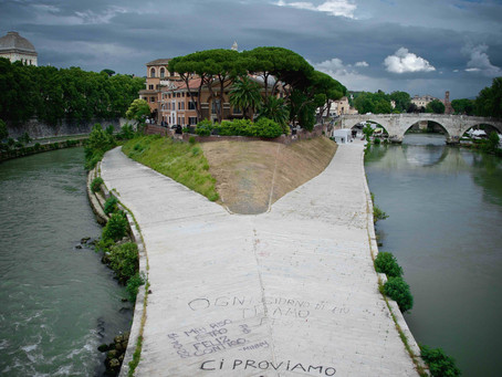 81. The Tiber Island, the tiny Roman Manhattan with a great History on its shores.