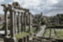 The empty Roman Forums. Photo by Giulio D'Ercole