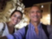 Selfie with a happy client in Piazza della Rotonda on Rome by Night Photo Tour Under the Stars, by Giulio D'Ercole of Rome Photo Fun Tours