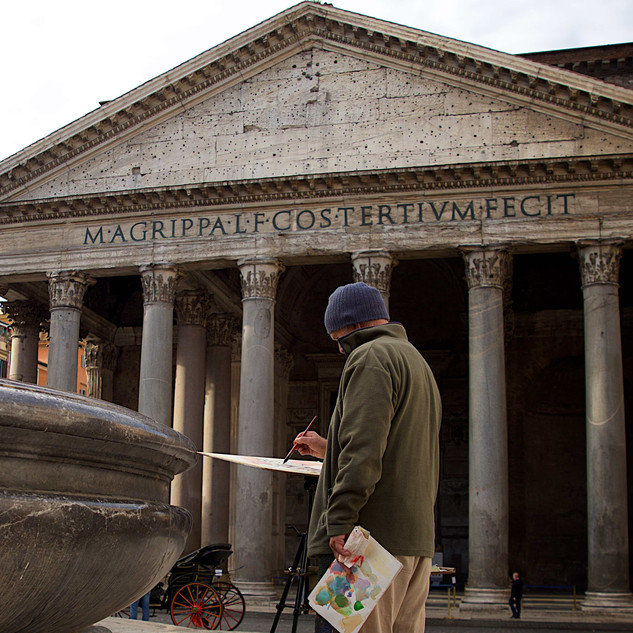 Art and inspiration at Pantheon, Rome