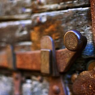 An ancient lock.