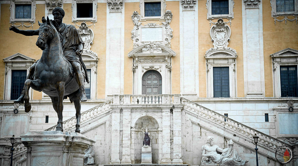 Marcus Aurelius in Michelangelo's Campidoglio. Rome by Day Beauty and History Photo tour by Giulio D'Ercole, Rome Photo Fun Tours