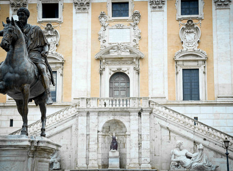 128. Michelangelo's most famous square in Rome: Campidoglio
