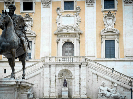 128. Michelangelo's most famous square in Rome: Campidoglio