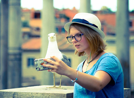 119. Selfie with a Seagull
