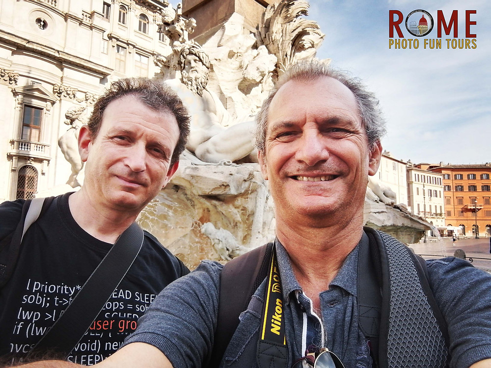 Taking a selfie during a Rome photo fun tours street photography workshop in the eternal city