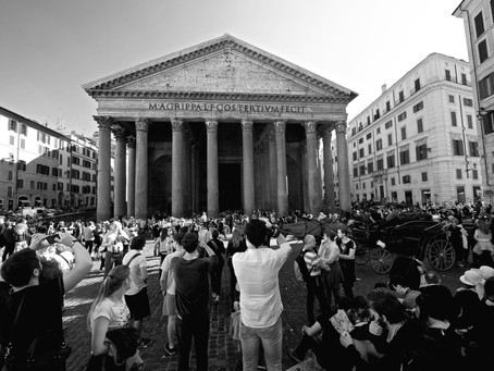 17.	This is Pantheon…. and the crowd around it