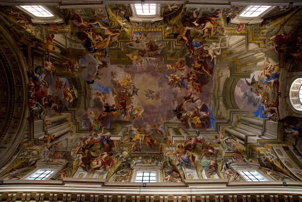 Frescos in St. Ignatius, Rome