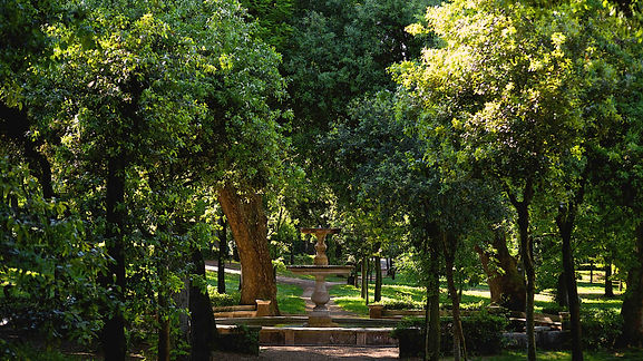 An oasis of peace in the English garden in Rome. Villa Borghese and Posh areas. Photo by Giulio D'Ercole. Rome Photo Fun Tours