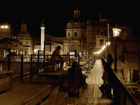40. A night at the outdoor Museum: the Trajan Markets