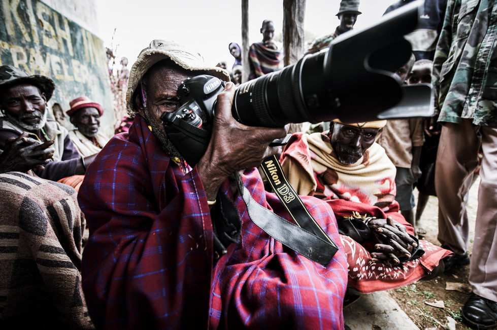 Turkana man and Photography
