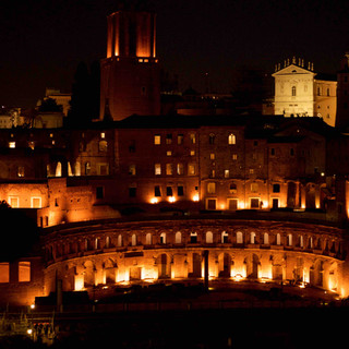 Night view on the Trajan Markets