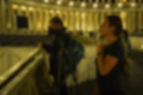 Workshop Rome by Night Photo Tour Under the Stars, by Giulio D'Ercole of Rome Photo Fun Tours. Photographing at St. Peter's Square
