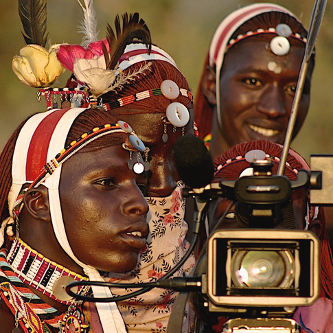 Young Maasai Warriors and technology