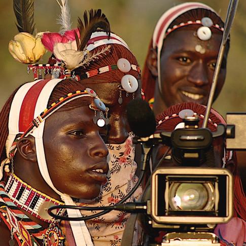 Young Maasai Warriors and technology