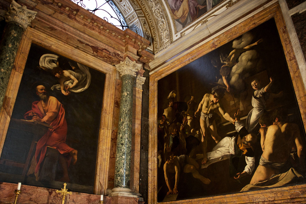 Caravaggio's paintings, Rome